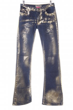 Miss Sixty Boot Cut Jeans dunkelblau-goldfarben Casual-Look