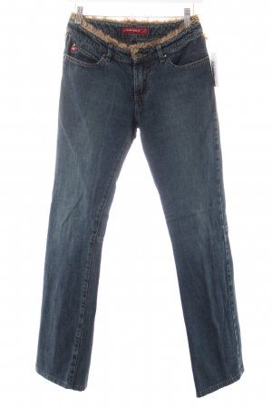 Miss Sixty Boot Cut Jeans dunkelblau-hellbraun Country-Look
