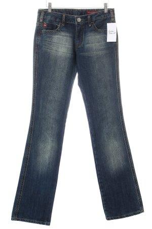 Miss Sixty Boot Cut Jeans dunkelblau-sandbraun Casual-Look