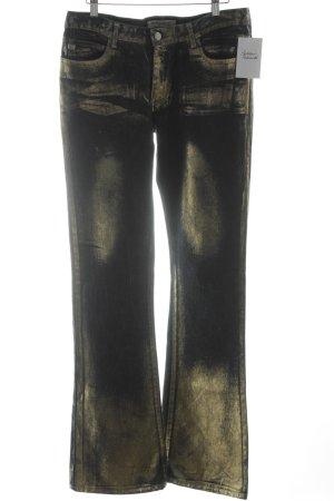 Miss Sixty Boot Cut Jeans goldfarben-blau Casual-Look