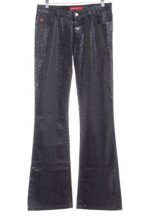 Miss Sixty Boot Cut Jeans mehrfarbig Reptil-Optik