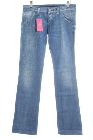Miss Sixty Boot Cut Jeans steel blue glittery