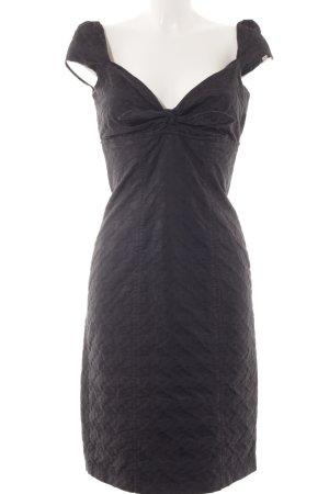 Miss Sixty Bustierkleid schwarz Punktemuster Glanz-Optik