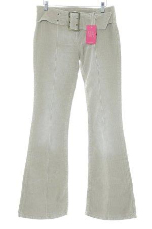 Miss Sixty Pantalone di velluto a coste beige stile casual