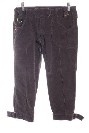 Miss Sixty Pantalone di velluto a coste marrone scuro stile casual