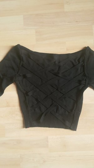 Miss Sixty Crop Top mit caged back in schwarz
