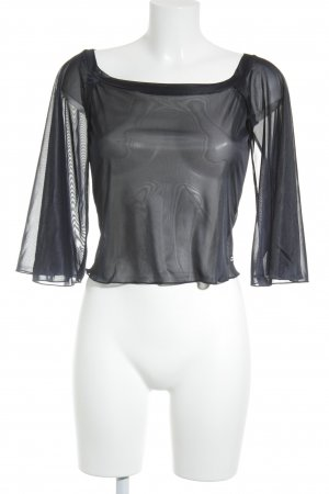 Miss Sixty Cropped Shirt dunkelblau Street-Fashion-Look