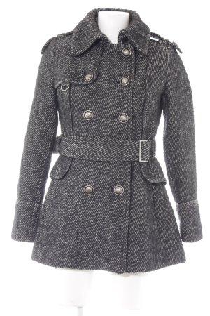 Miss Sixty Dufflecoat schwarz-weiß meliert Casual-Look