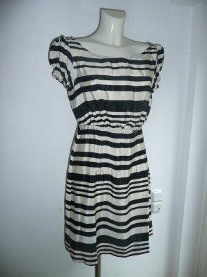 Miss Sixty Eyecatcher Kleid gestreift Creme Schwarz Gr 40