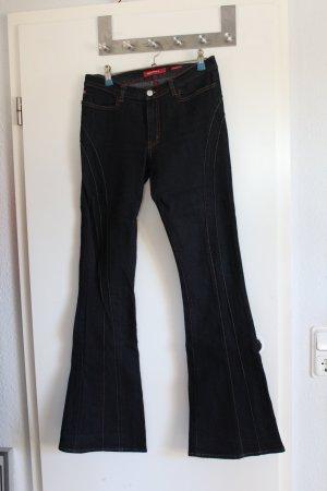 Miss Sixty flared und leicht high waisted Jeans in dunkelblau