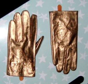 Miss Sixty Handschuhe Metallic Leder bronze