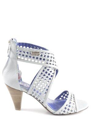 Miss Sixty High Heel Sandaletten blassblau-hellbraun Elegant