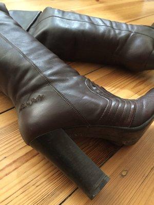 MISS SIXTY High-Heel Stiefel, dunkel Braun, dunkel rote Details