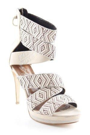 Miss Sixty High Heels creme-dunkelbraun Elegant