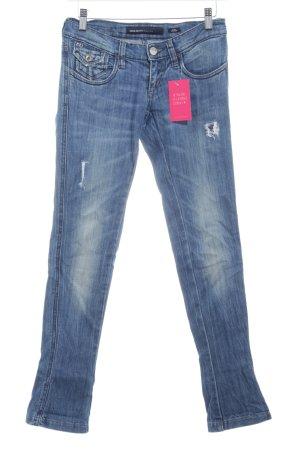 Miss Sixty Pantalon taille basse bleu acier Aspect de jeans