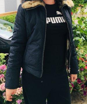 Miss Sixty Fake Fur Jacket black