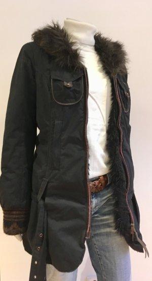 Miss Sixty Chaqueta de invierno negro-marrón oscuro