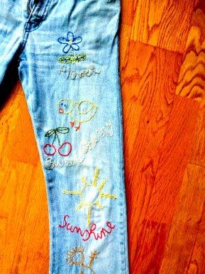 MISS SIXTY Jeans 28 mit echter Stickerei