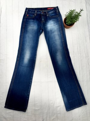 MISS SIXTY Jeans, dunkelblau mit Waschung, Size 28, Casual-Look