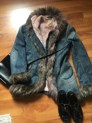 MISS SIXTY Jeans Jacke Fake Fur Gr.36 fast neu