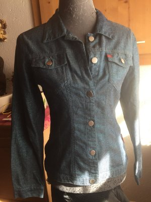 Miss sixty Jeans Jacke Glitzer blau Medium