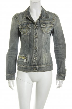Miss Sixty Jeansjacke dunkelblau Used-Optik