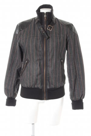 Miss Sixty Denim Jacket striped pattern biker look