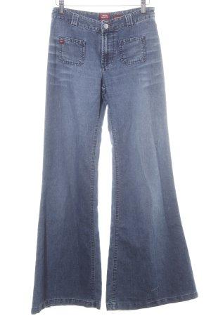 Miss Sixty Jeans flare bleu-rouge style décontracté