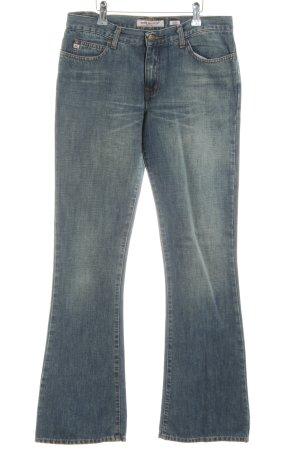 Miss Sixty Jeans a zampa d'elefante blu-verde stile casual