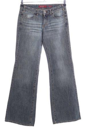 Miss Sixty Jeans a zampa d'elefante grigio chiaro stile casual