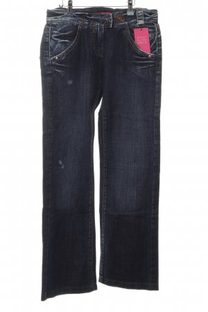 Miss Sixty Denim Flares dark blue-white casual look