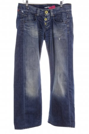 Miss Sixty Jeansschlaghose dunkelblau-hellbeige Washed-Optik