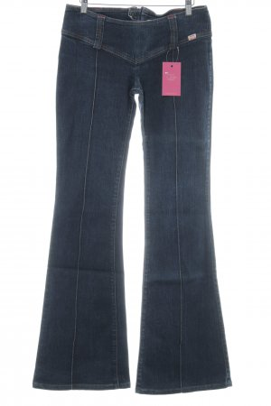 Miss Sixty Jeansschlaghose dunkelblau Jeans-Optik