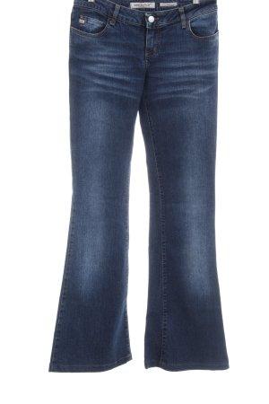 Miss Sixty Jeans a zampa d'elefante blu scuro stile jeans