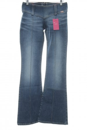 Miss Sixty Jeansschlaghose dunkelblau Washed-Optik
