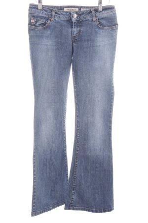 Miss Sixty Jeans a zampa d'elefante blu acciaio-azzurro stile casual