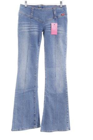 Miss Sixty Jeansschlaghose stahlblau Washed-Optik