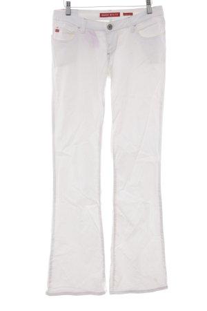 Miss Sixty Jeans a zampa d'elefante bianco sporco-beige stile casual