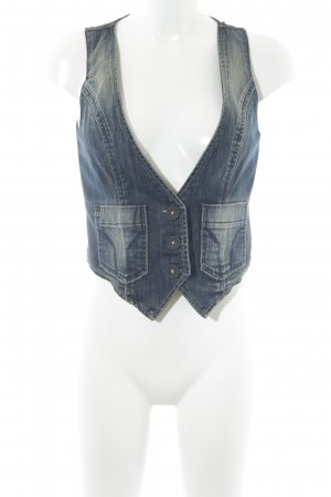 Miss Sixty Jeansweste blau Casual-Look