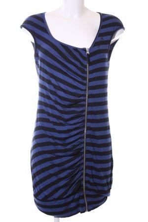 Miss Sixty Jerseykleid blau-schwarz Streifenmuster Casual-Look