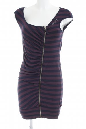Miss Sixty Jerseykleid dunkelviolett-dunkelblau Streifenmuster Casual-Look