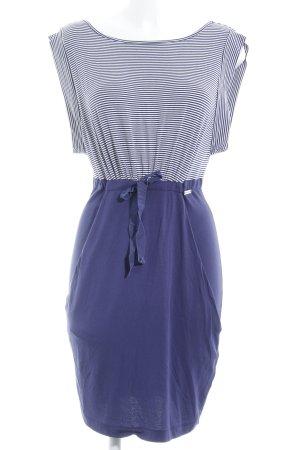 Miss Sixty Jerseykleid stahlblau-wollweiß Casual-Look