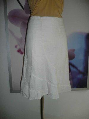 Miss Sixty klassischer Godet Rock Skirt mittellang creme weiß 40-42