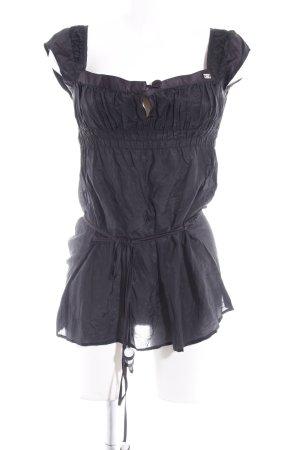 Miss Sixty Kurzarm-Bluse schwarz Street-Fashion-Look