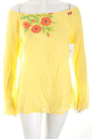 Miss Sixty Langarm-Bluse blassgelb Casual-Look