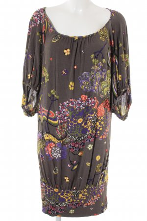 Miss Sixty Langarmkleid abstraktes Muster Gypsy-Look