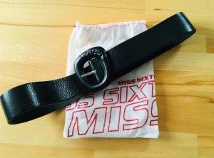 Miss Sixty Cinturón de cuero negro Cuero