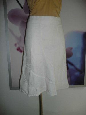 Miss Sixty Godet Skirt cream linen
