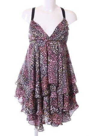 Miss Sixty Vestido de cuello Halter estampado de leopardo elegante