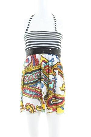 Miss Sixty Vestido de cuello Halter estampado con diseño abstracto